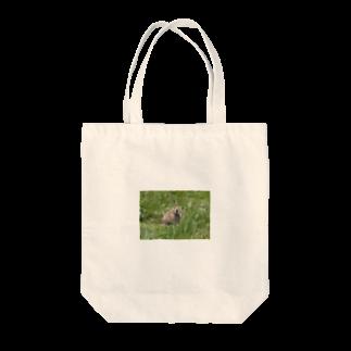 ゆきうさぎ工房のにこにこナキウサギ Tote bags