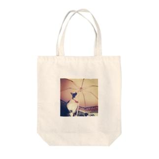 うずらアンブレラ Tote bags