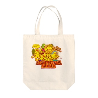 YELLOW JUNKIE ヒーロー気取り Tote bags