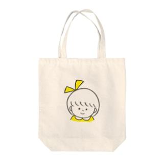 りぼんちゃんトート(きいろ) Tote bags