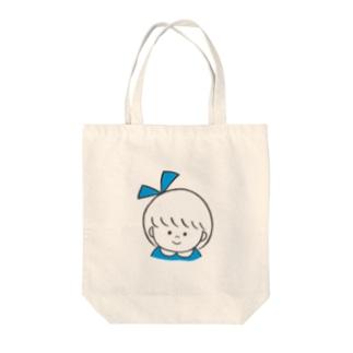 りぼんちゃんトート(みずいろ) Tote bags