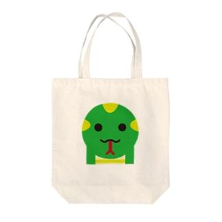 干支丸-巳-animal up-アニマルアップ- Tote bags
