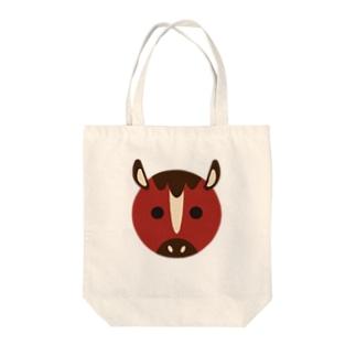 干支丸-午-animal up-アニマルアップ- Tote bags