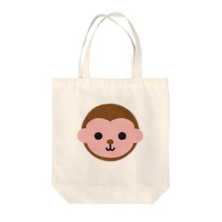 干支丸-申-animal up-アニマルアップ- Tote bags