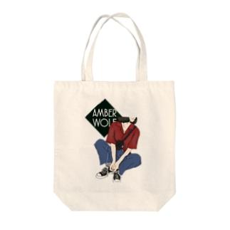 AMBER WOLF  古着少女 Tote bags
