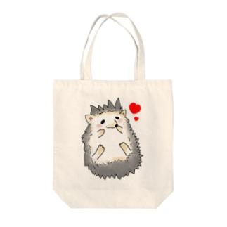 ハリネズミ(ハート) Tote bags