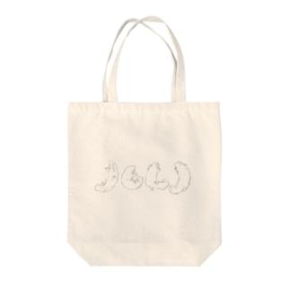 ホワイトサラマンダ Tote bags