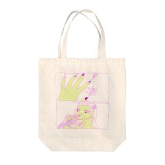 植物界のひと Tote bags
