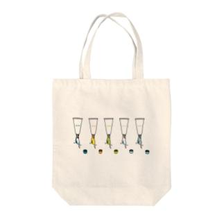 チューブタイプのインコ Tote bags