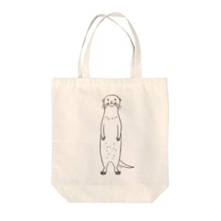 カワウソ直立 Tote bags