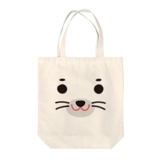 アザラシ-animal up-アニマルアップ- Tote bags