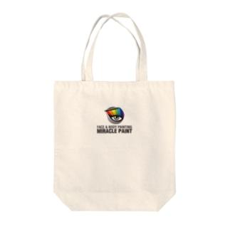 ミラクルペイント(WHITE) Tote bags