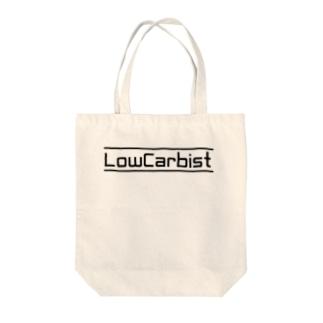 LowCarbist Tote bags