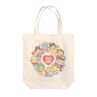 ぐるぐる★ぷぅちゃん Tote bags