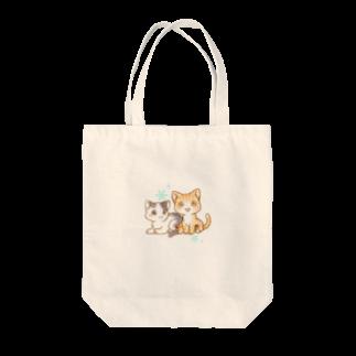 秋月ユノのなかよしこねこ Tote bags