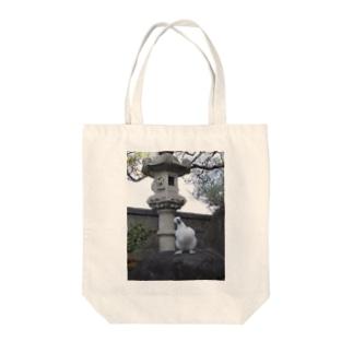 烏骨鶏のぷーちゃん Tote bags