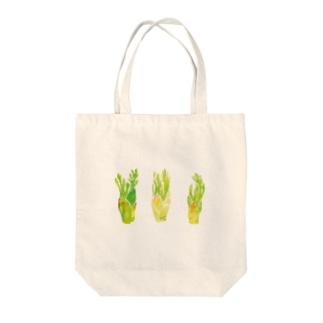タラノメ Tote bags