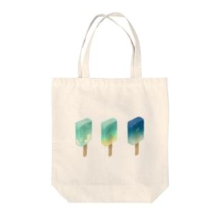 スカイバー Tote bags