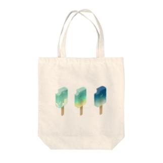 たべかけスカイバー Tote bags
