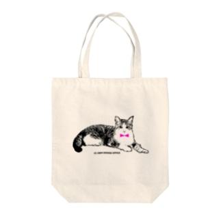 ネクタイ猫ちゃん Tote bags