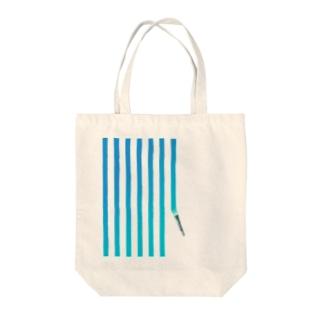 塗りかけストライプ Tote bags