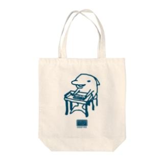 そろばんイルカ Tote bags