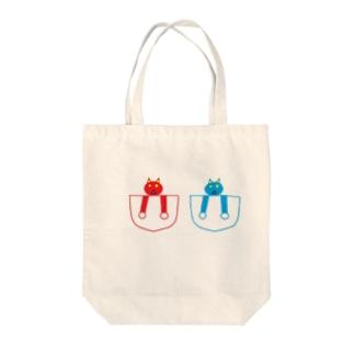 赤鬼 青鬼 Tote bags