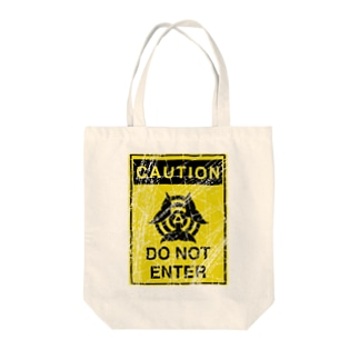 CAUTION DO NOT ENTER Tote bags