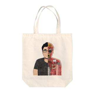 図解 田中さん Tote bags