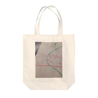 こどものお絵描き。 Tote bags