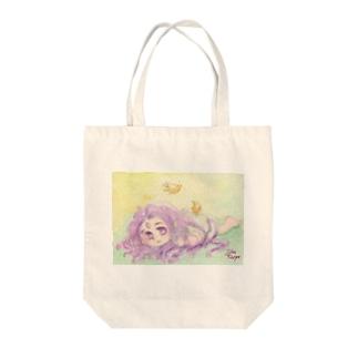 お寝坊さんな王様:妖精王 Tote bags
