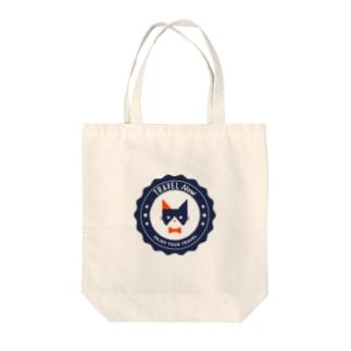 TRAVEL NYA(NAVY) Tote bags