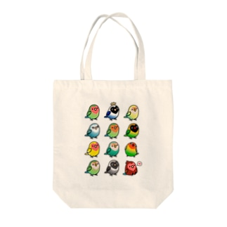 Chubby Bird ラブバード大集合 (コザクラインコ&ボタンインコ)  Tote bags