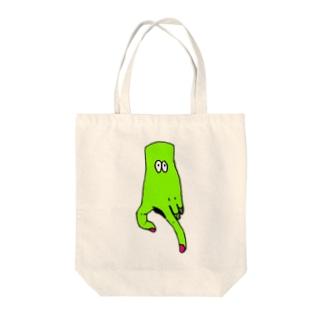 はんどくんがゆく。 Tote bags