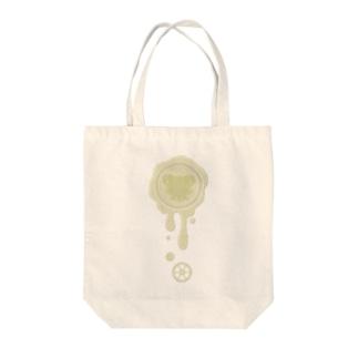 チョコ好きさんへ♪【ホワイトチョコ】healing-honey蝋封風ロゴモチーフ Tote bags