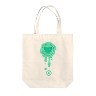 チョコ好きさんへ♪【チョコミント】healing-honey蝋封風ロゴモチーフ Tote bags