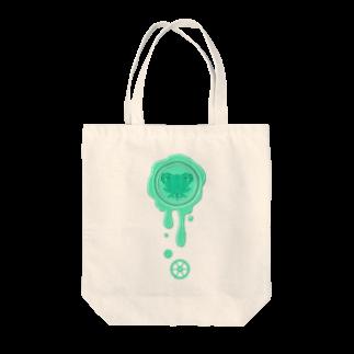healing-honeyのチョコ好きさんへ♪【チョコミント】healing-honey蝋封風ロゴモチーフ Tote bags