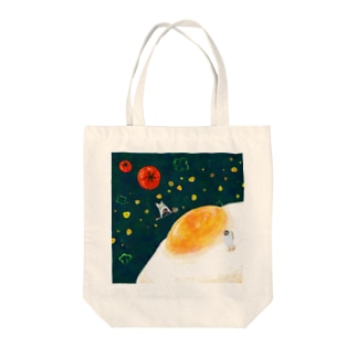 Planet sunny side up Tote bags