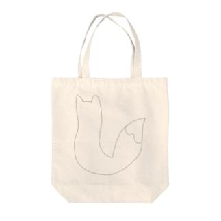 キツネの日向ぼっこ Tote bags