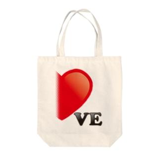 【suzuri店限定】光沢風でドットが♥ ラブラブ VE ペアルック  Tote bags