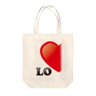【suzuri店限定】光沢風でドットが♥ ラブラブ LO ペアルック  Tote bags