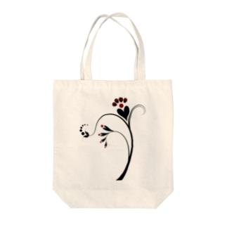 ハートフルな植物 Tote bags