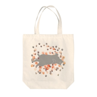 おひるねこ(グレー) Tote bags