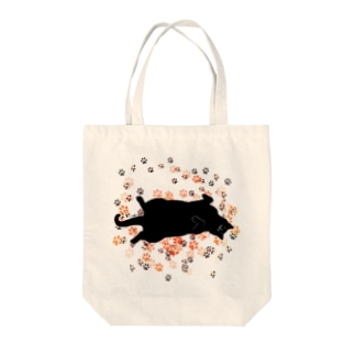 おひるねこ(ブラック) Tote bags