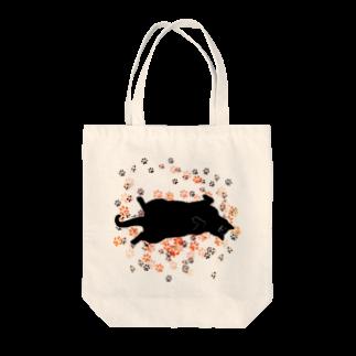 タナカミのおひるねこ(ブラック) Tote bags