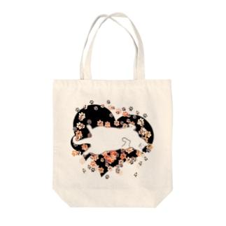 おひるねこ(ホワイト) Tote bags