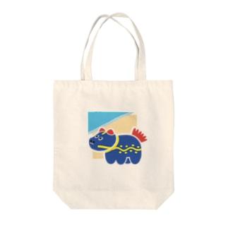 うみとうみべこ Tote bags