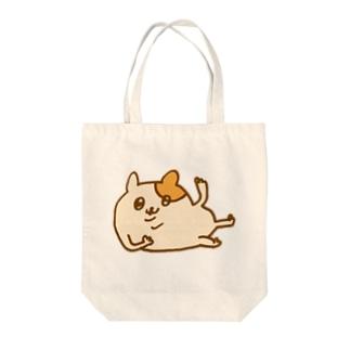 ねころびハムちゃん(カラー) Tote bags