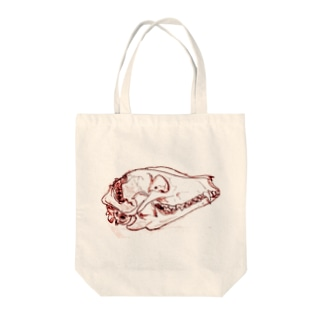 タヌキ頭骨 Tote bags