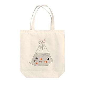 祭りデザイン「金魚すくい」 Tote bags